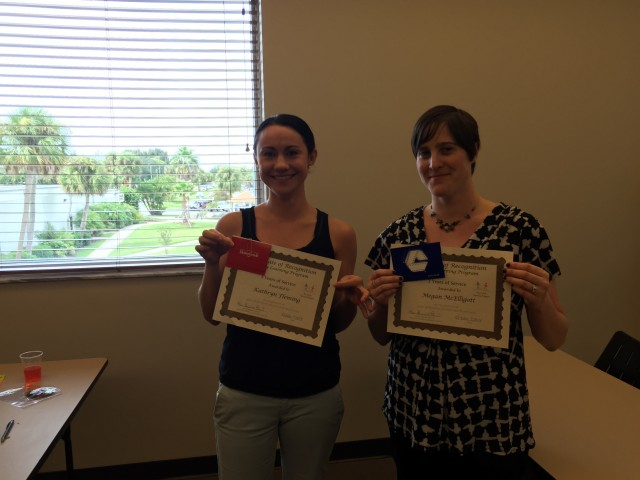 In October 2014, Ms. Megan and Ms. Kate celebrated 3 years of service with FLP! Thanks for all your hard work and dedication, ladies!
