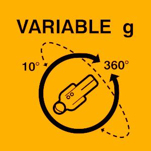 Variable gravity indicator