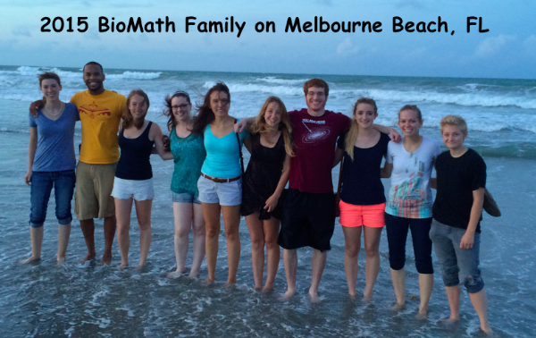 Biomath team on the beach